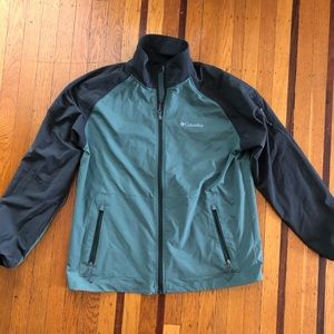 NEW Columbia shell jacket lightweight green gray
